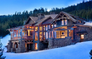 A Look At Some Mansions In The Snow