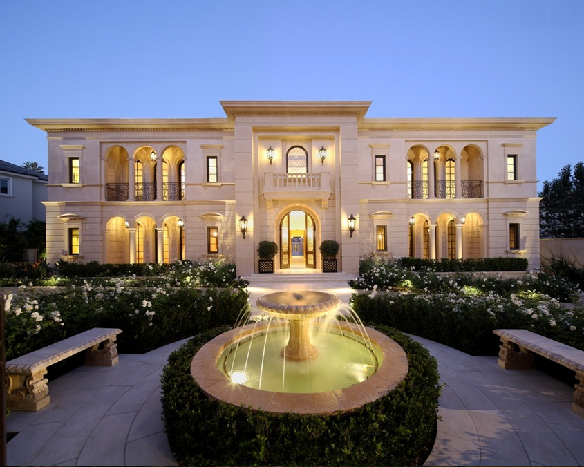 Spectacular limestone mansion in los angeles ca homes for Rich homes in california