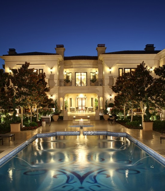 Spectacular Limestone Mansion In Los Angeles, CA