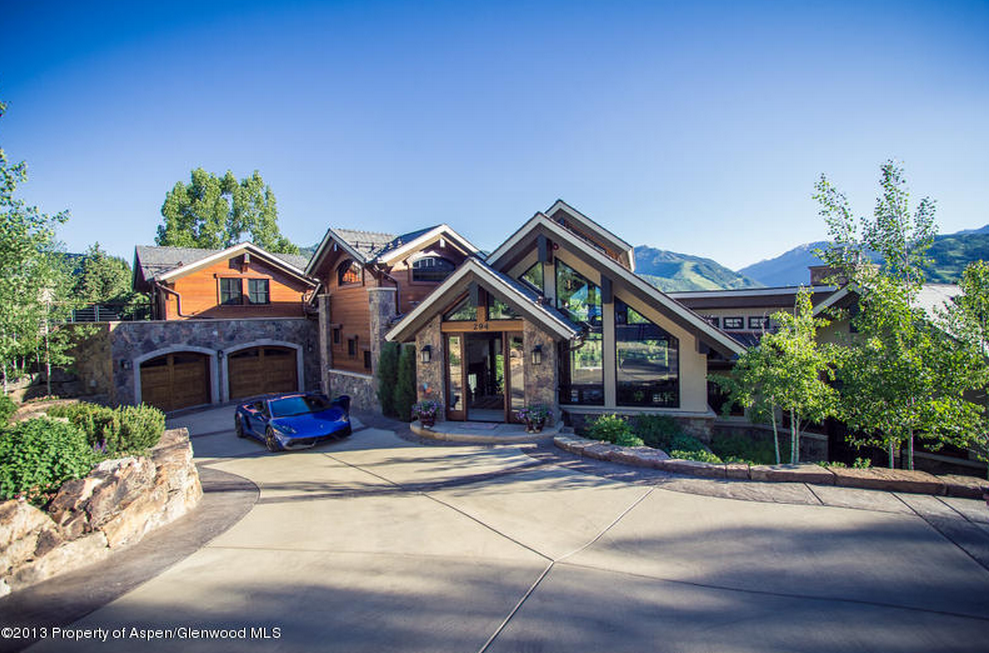 16 9 million newly listed mountaintop contemporary for Celebrity homes in aspen