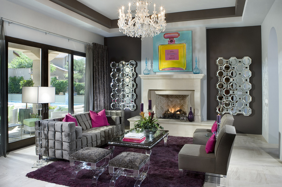 A Look At 20 Chic Amp Eclectic Living Rooms Homes Of The Rich