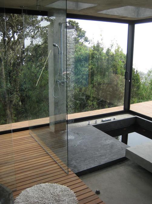 Concrete Bathtub Shower Combo