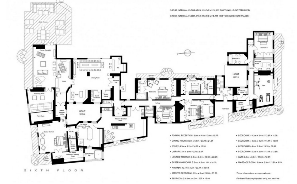 40 million 10 000 square foot penthouse in london for 10000 square foot home plans
