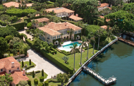 $21.5 Million Newly Listed Waterfront Mediterranean Mansion In Palm Beach, FL