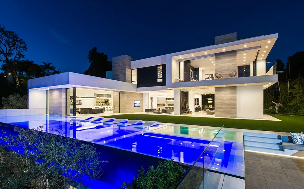 35 million newly built contemporary mansion in beverly for Rich homes in california