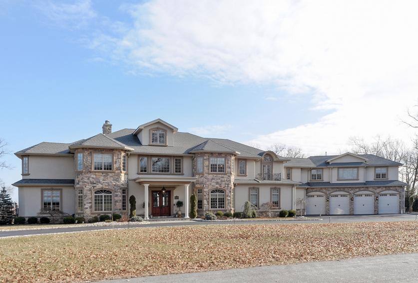 $2.6 Million Gated Stone & Stucco Mansion In West Orange, NJ