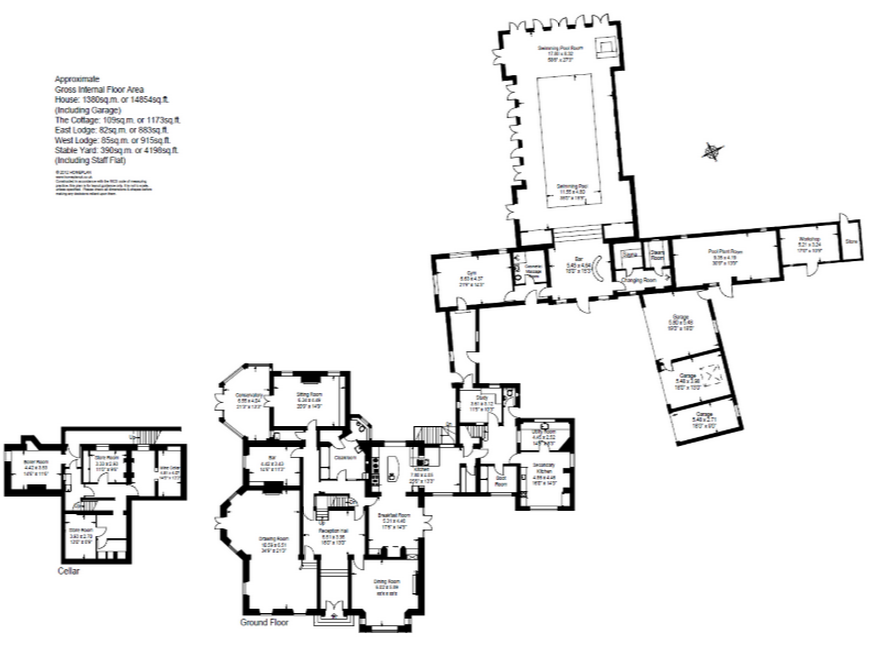 English country house floor plan for Estate home plans designs