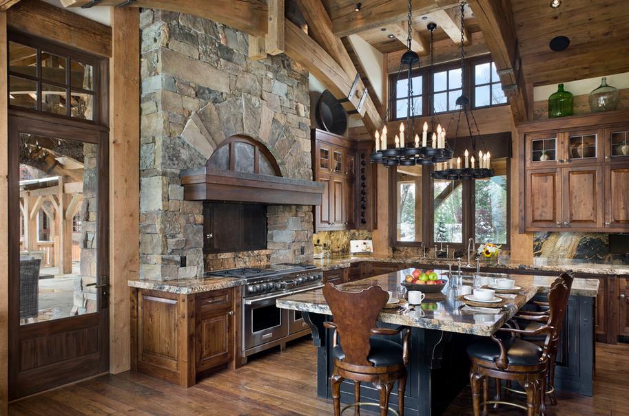 Rustic Elegant Kitchen - Kitchen Design Ideas