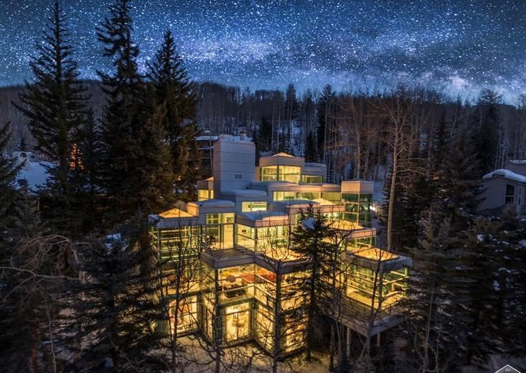 $13.9 Million Newly Listed Contemporary Mountaintop Home In Vail, CO