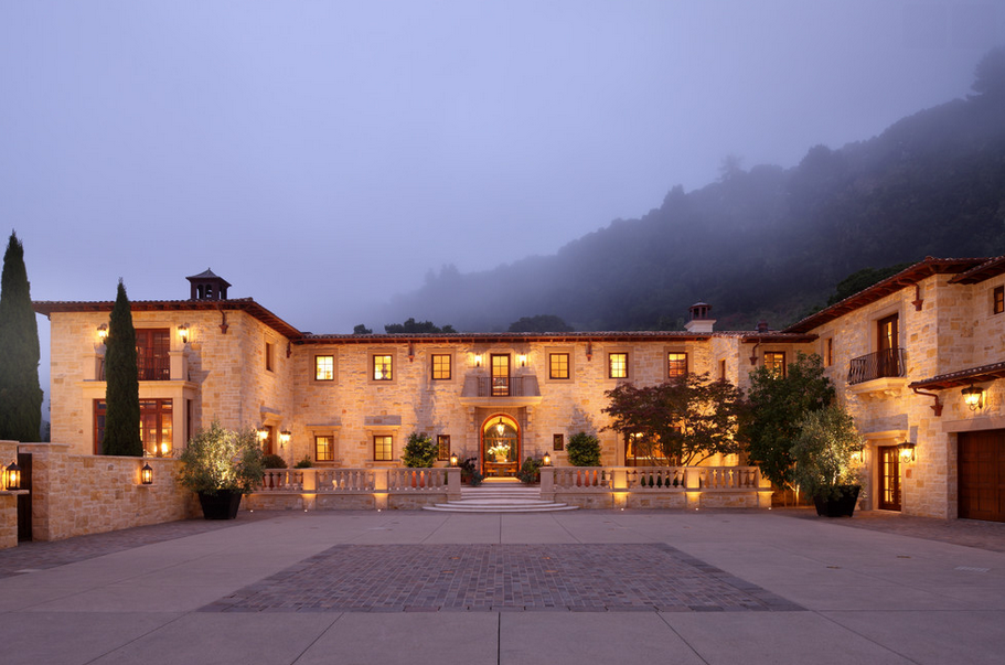 Stunning Tuscan Inspired Mansion In Carmel Valley, CA Designed By Evens Architects