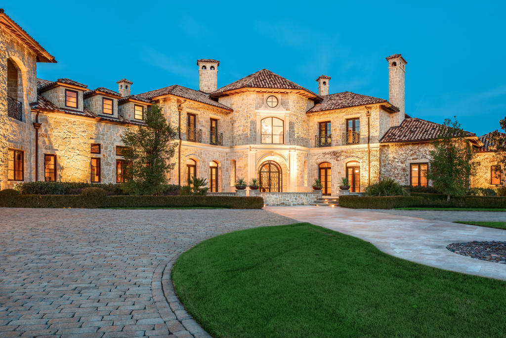 Gorgeous 19 000 Square Foot Tuscan Stone Mansion In Plano
