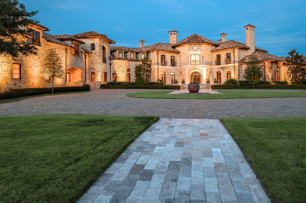 Gorgeous 19 000 square foot tuscan stone mansion in plano for Home building cost per square foot texas