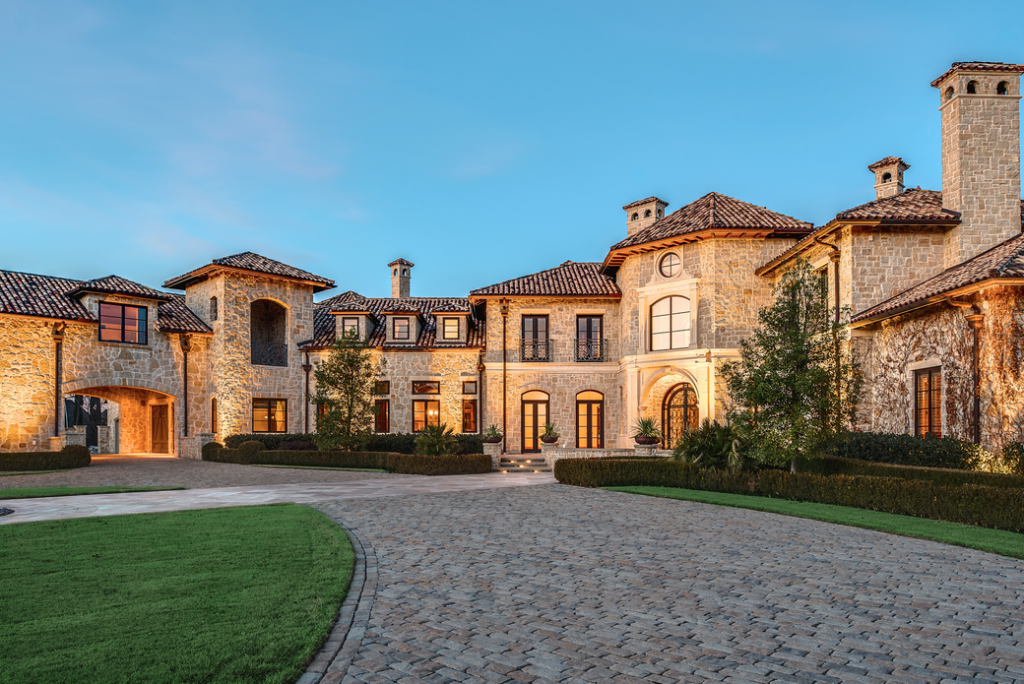 Gorgeous 19 000 square foot tuscan stone mansion in plano for Texas tuscan homes