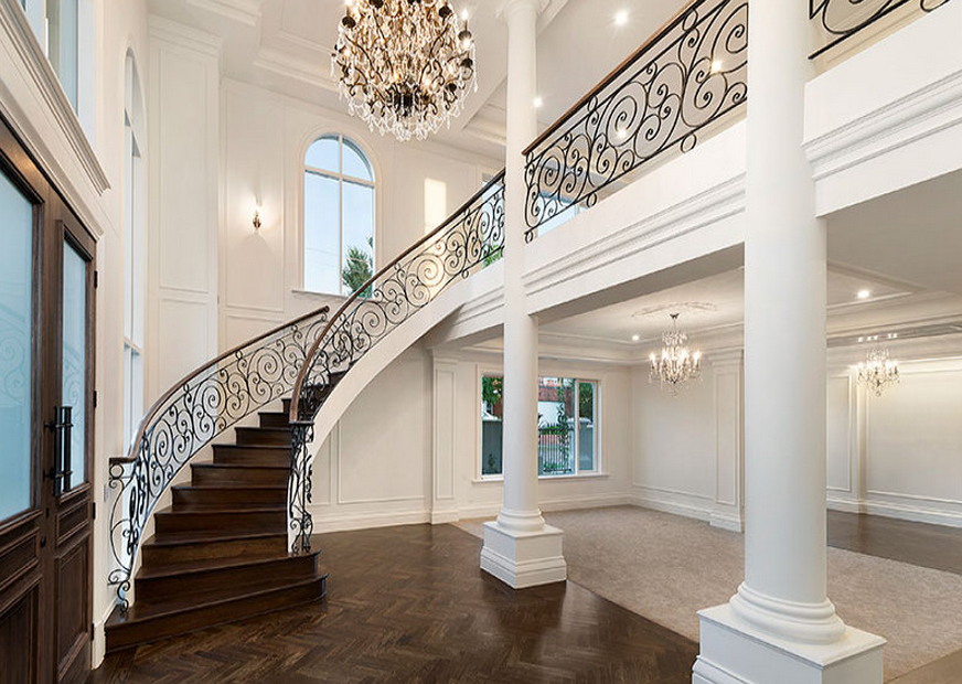 Foyer Office Victoria : Stately newly built home in victoria australia homes of