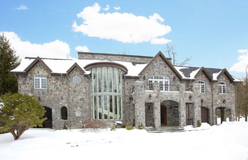 States Homes Million Newly Listed Stone Mansion In Alpine NJ