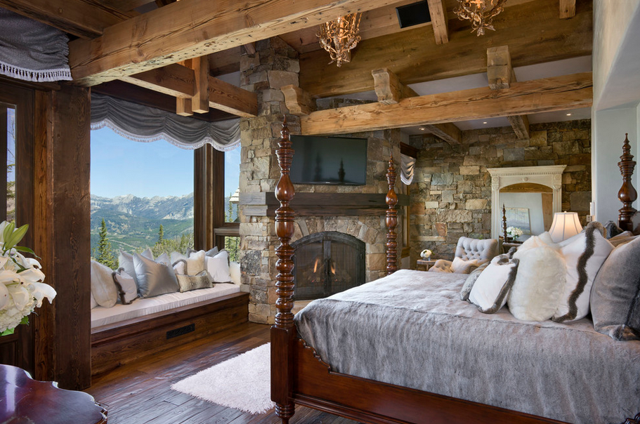 A Look At 20 Rustic Bedrooms Homes Of The Rich