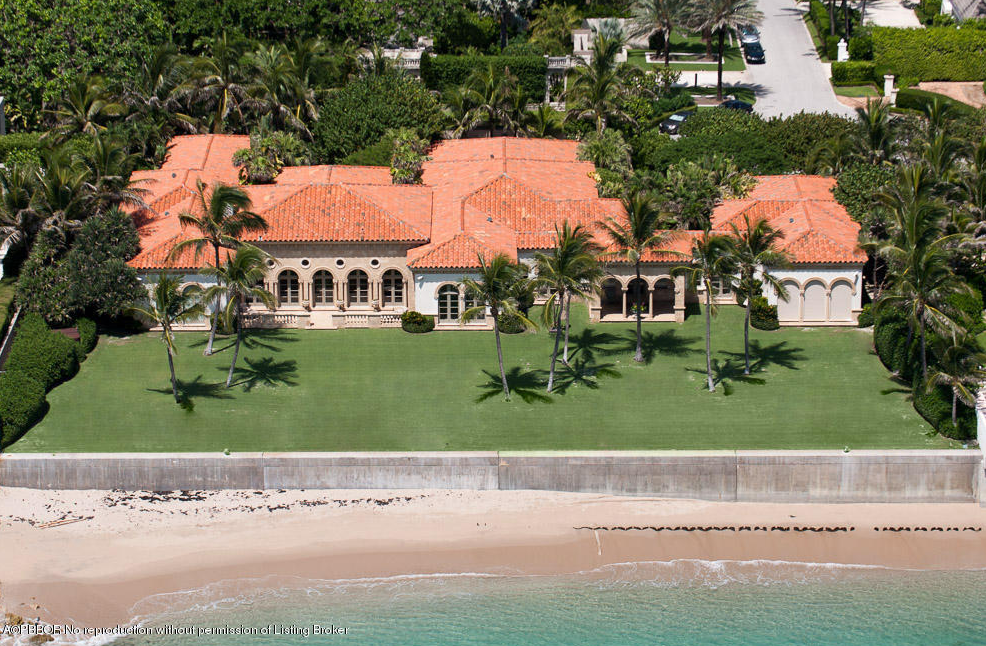 $47 Million Newly Listed Mediterranean Oceanfront Mansion In Palm Beach, FL