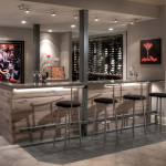 Wet Bar & Wine Cellar