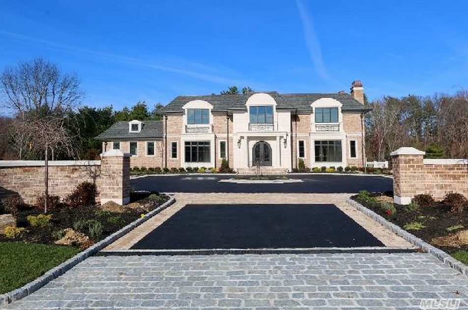 72 Million Newly Built 11000 Square Foot Brick Stone Mansion In Old Westbury NY
