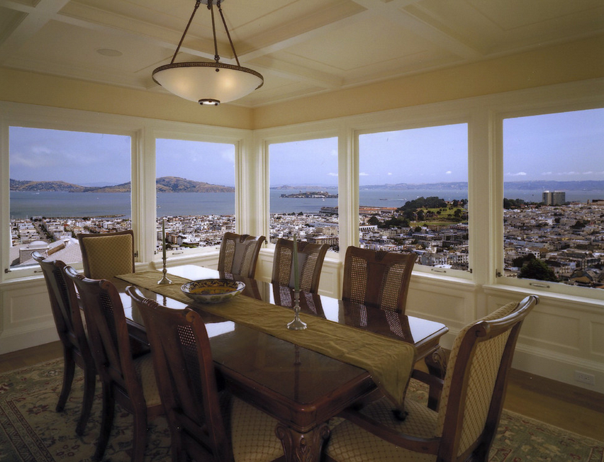 20 dining rooms with amazing views homes of the rich for Amazing dining rooms