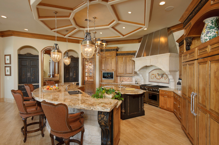 Lakefront mansion in houston tx designed by gary keith for Kitchen design 77070