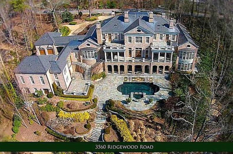 5 15 Million Brick Regency Mansion In Atlanta Ga Homes
