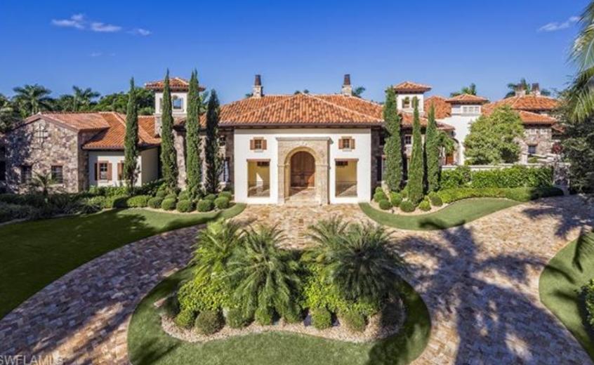$12.5 Million Mediterranean Mansion In Naples, FL