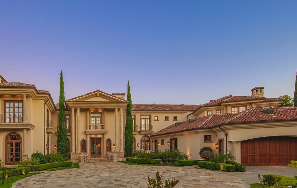 16 million mediterranean mansion in los angeles ca for Rich homes in california