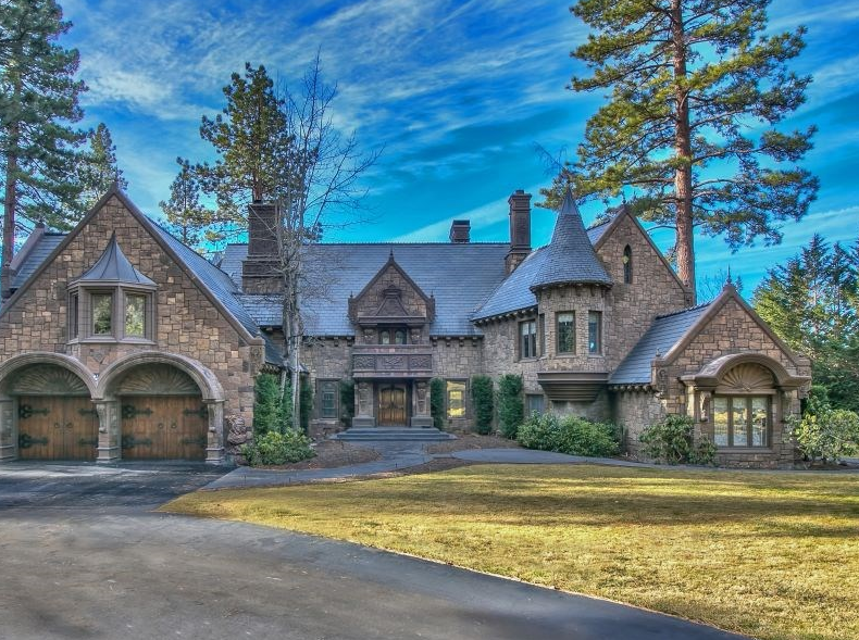 26 Million Castle Like Lakefront Home In Incline Village