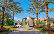 $4.4 Million Mediterranean Lakefront Mansion In Boca Raton, FL