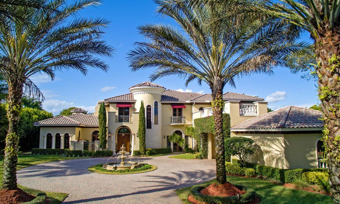 4 4 Million Mediterranean Lakefront Mansion In Boca Raton