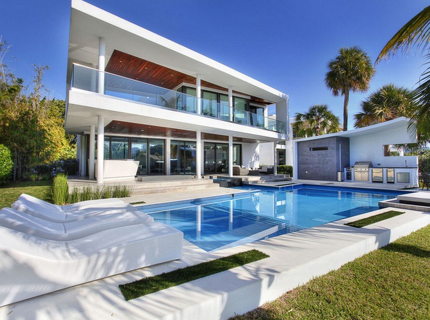13 million newly built 17 000 square foot modern for Modern florida homes