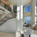 Staircase & 2-story Living Room