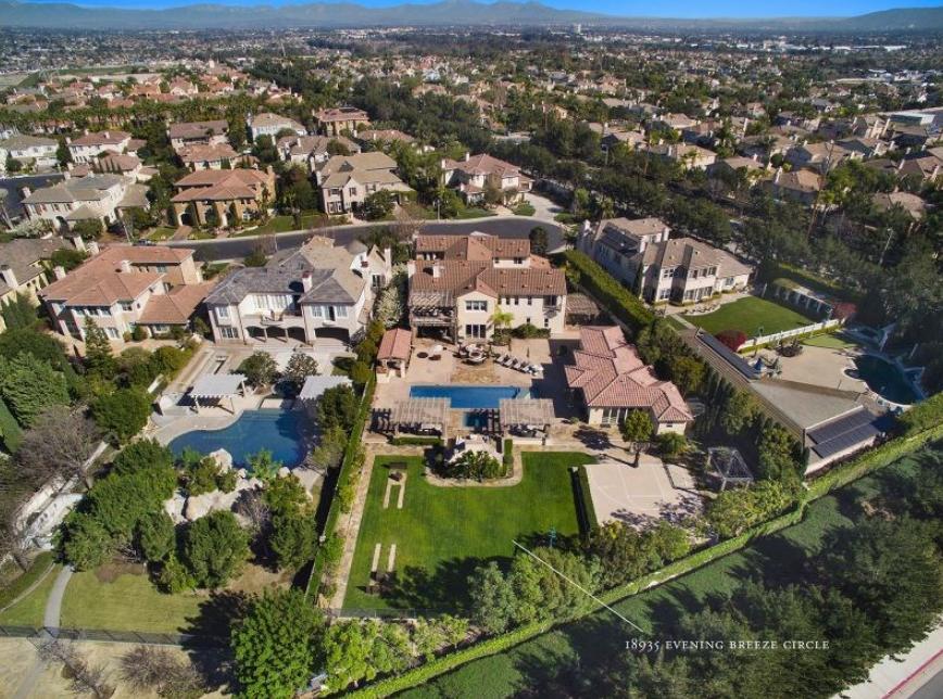 $6.995 Million Santa Barbara Inspired Estate In Huntington Beach, CA
