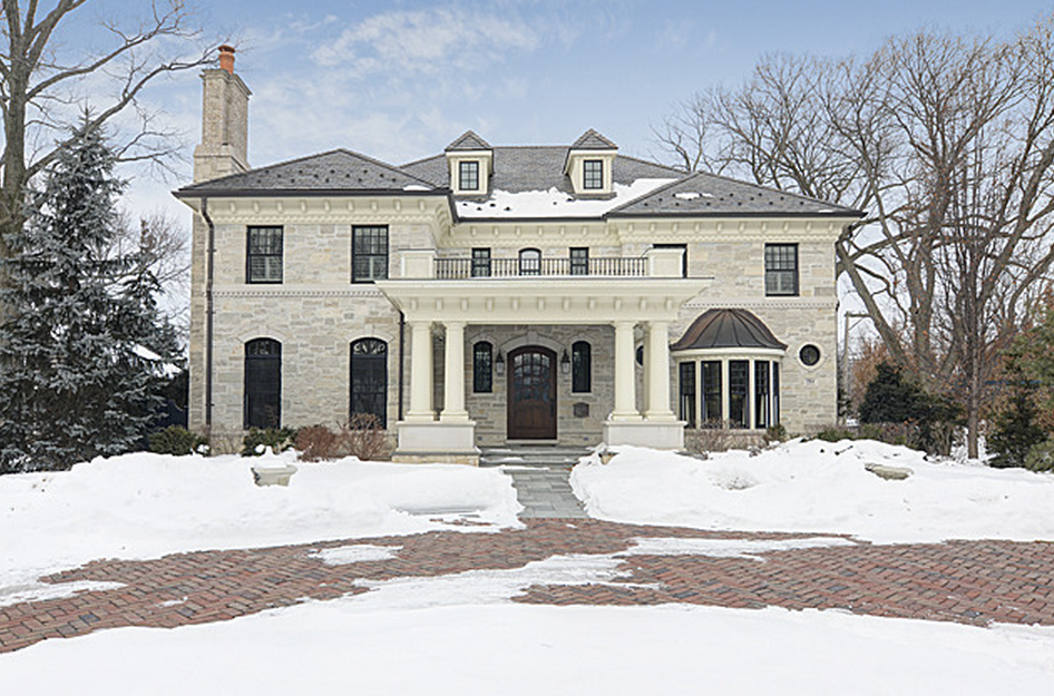$3.799 Million Stone Home In Hinsdale, IL