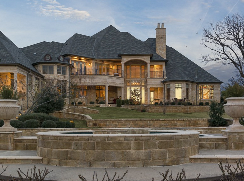 4 5 Million Stone Mansion In Colleyville Tx Homes Of