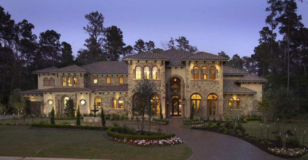 3 35 Million Stone Amp Stucco Mansion In The Woodlands Tx
