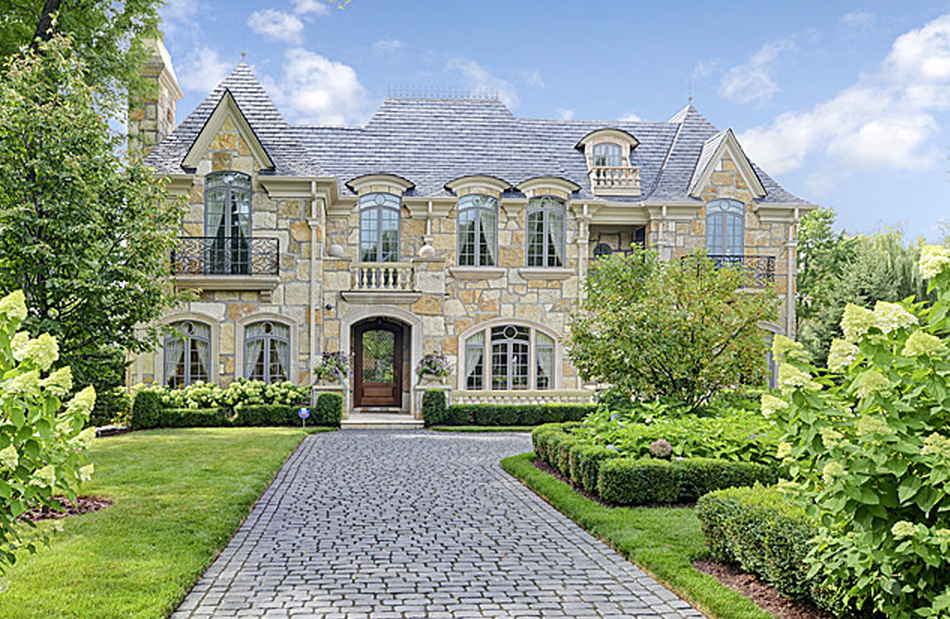 Million French Provincial Stone Home In Hinsdale