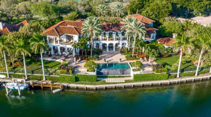 225 Million Waterfront Mediterranean Mansion In Coral