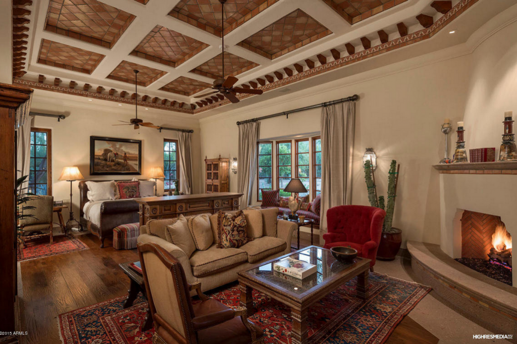 Million 14 000 square foot spanish colonial estate in paradise valley az homes of the What is master bedroom in spanish