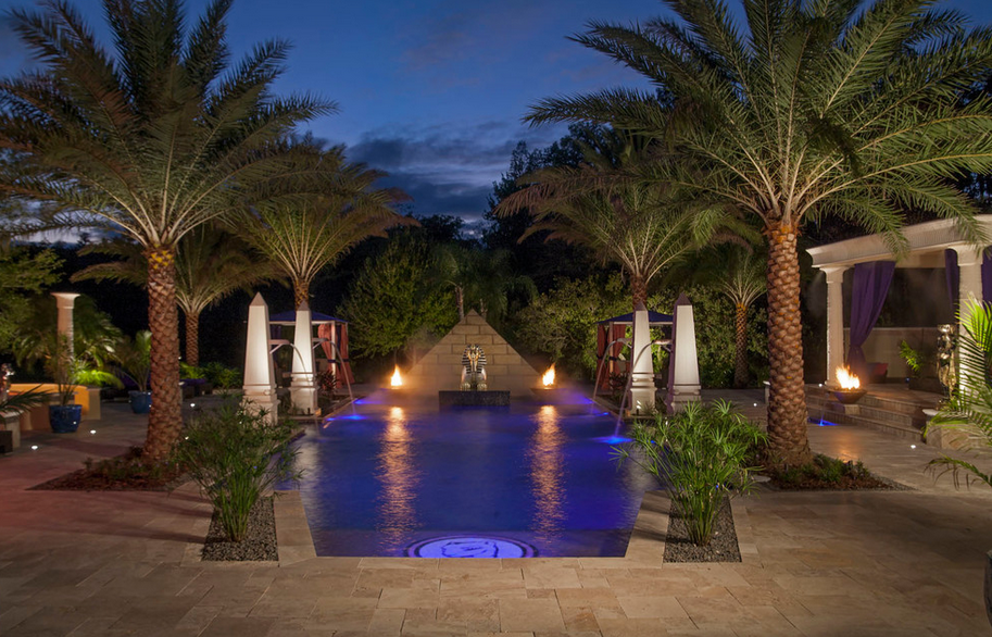 Awesome Egyptian Themed Swimming Pool Homes Of The Rich