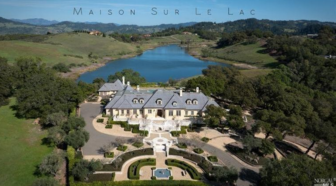 Maison Sur Le Lac – A Lakefront French Country Mansion In Santa Rosa, CA