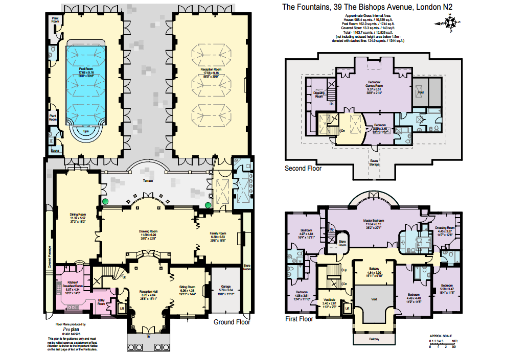 15 million palladian style brick mansion in london for Palladian house plans