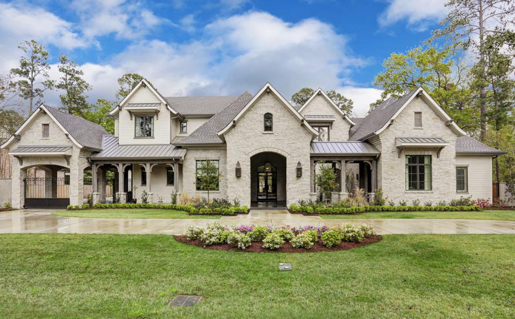 4 5 million newly built french country home in houston for French country house exterior