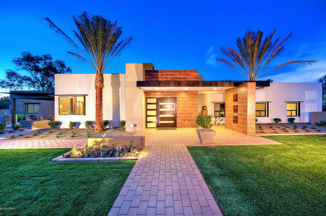 3 1 million newly built contemporary home in paradise for Modern homes arizona
