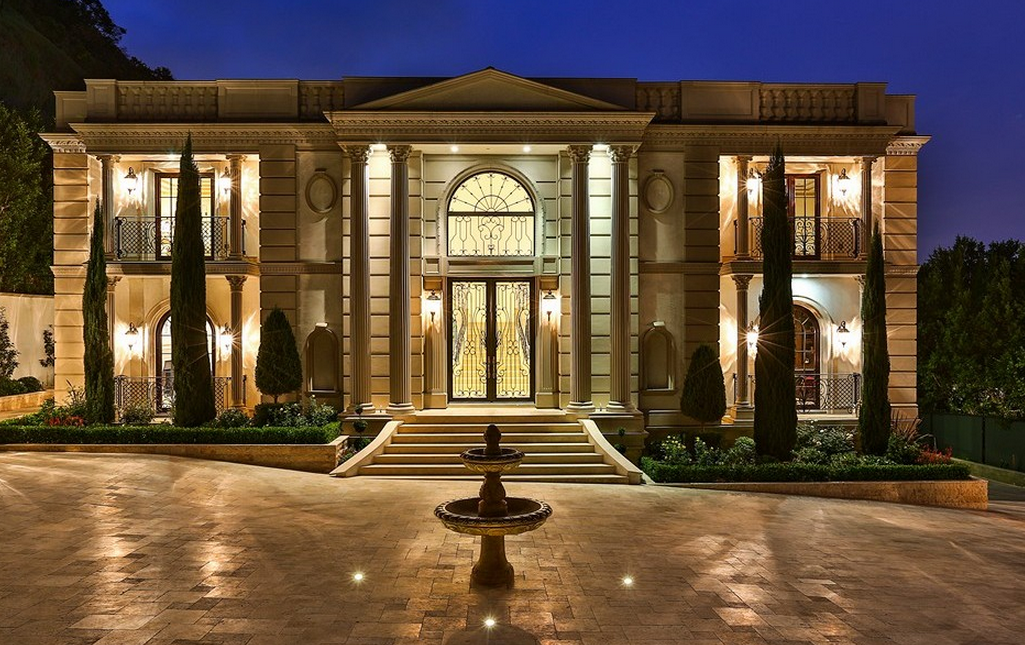 26 million newly built grand neoclassical estate in bel air ca