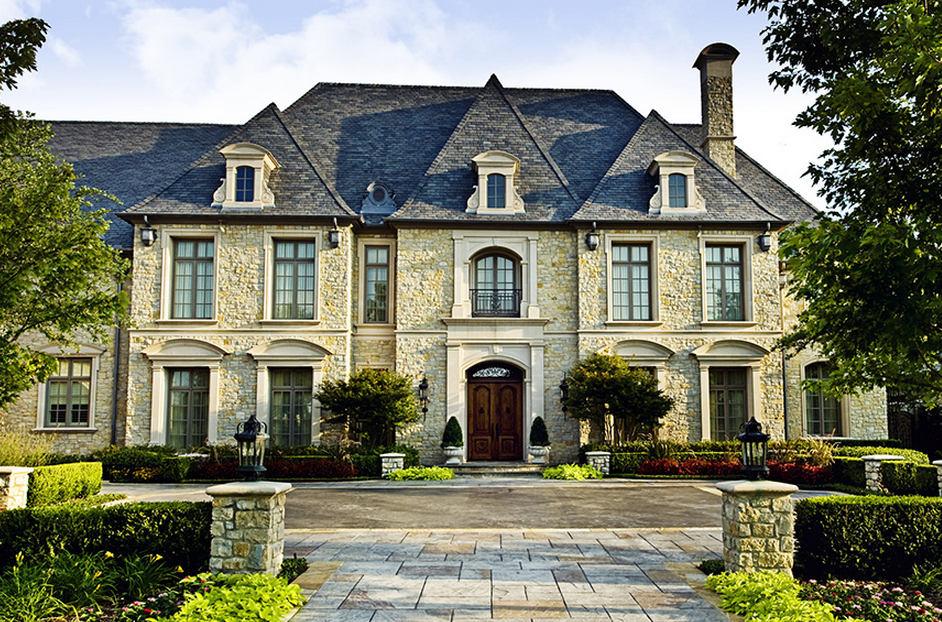 Million french inspired stone mansion in dallas tx for Mansions in dallas tx