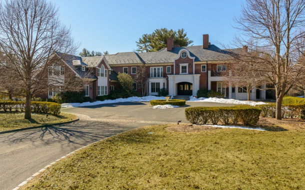 $6.8 Million 12,000 Square Foot Brick Mansion In Old Westbury, NY