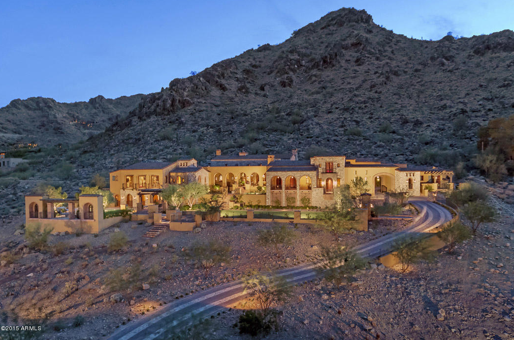 $10.9 Million Spanish/Tuscan Inspired Mansion In Paradise Valley, AZ