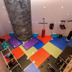 2-story Gym w/ Rock Climbing Wall